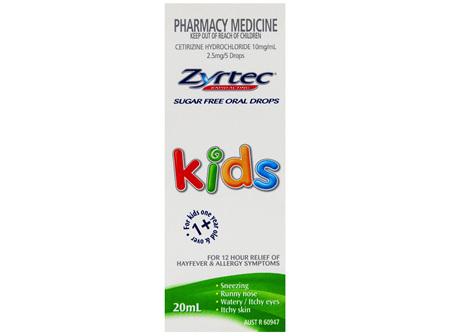 Zyrtec Allergy & Hayfever Kids Oral Drops 20mL
