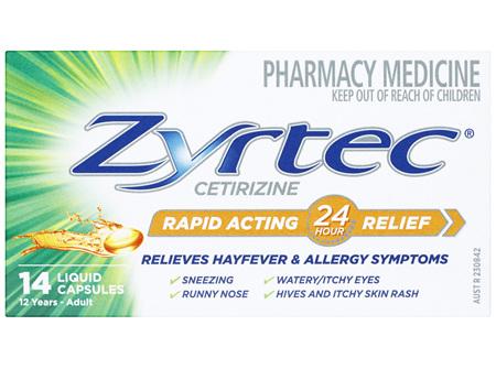 Zyrtec Cetirizine Rapid Acting Relief - 14 Caps