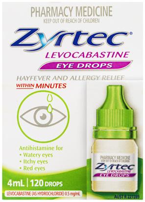 Zyrtec Hayfever Levocabastine Eye Drops 4mL