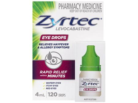 Zyrtec Levocabastine Eye Drops 4mL