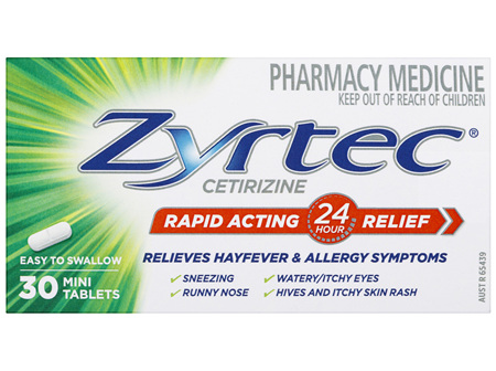 Zyrtec Rapid Acting Relief 30 Tablets