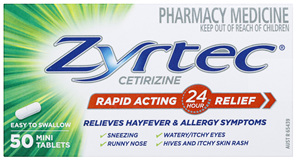 Zyrtec Rapid Acting Relief 50 Tablets