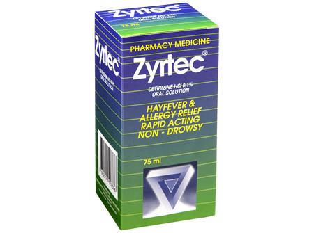 Zyrtec Solution Hayfever Allergy R 75ml