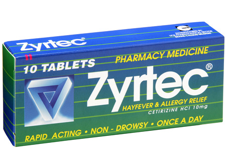 Zyrtec Tablet Hayfever Allergy Relief 10
