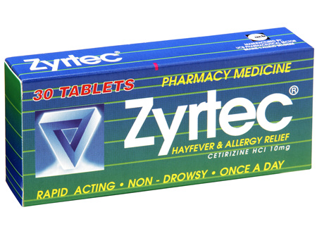 Zyrtec Tablet Hayfever Allergy Relief 30