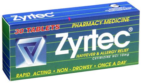Zyrtec Tablet Hayfever Allergy Relief 30